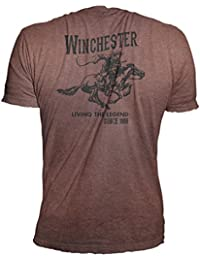 Official Winchester Men's Limited Edition Vintage Rider Graphic Short Sleeve T-shirt