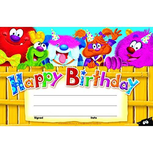 Trend Enterprises Inc。Happy Birthday Furry Friends (セットof 24 ) B00QFXI724