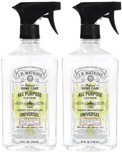(J. R. Watkins All Purpose Cleaner, Aloe & green tea, 24 oz-2 pack)