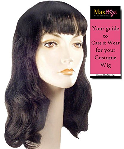 Hollywood Star Wig (Deluxe 40s Page Boy Color Dark Brown - Lacey Wigs Women's Bettie Hollywood Forties Movie Star Pageboy Bundle with MaxWigs Costume Wig Care)