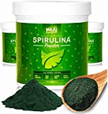 Spirulina Powder: MAJU's California Grown, Non-GMO, Non-irradiated, Vegan Friendly, Gluten-free, Protein & Vitamin Rich Super Algae