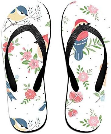 ビーチシューズ 鳥 花柄 きれい? ビーチサンダル 島ぞうり 夏 サンダル ベランダ 痛くない 滑り止め カジュアル シンプル おしゃれ 柔らかい 軽量 人気 室内履き アウトドア 海 プール リゾート ユニセックス