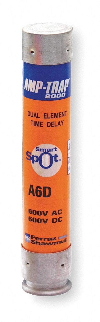 45A Time Delay Polyester Fuse with 600VAC/DC Voltage Rating; A6D-R Series