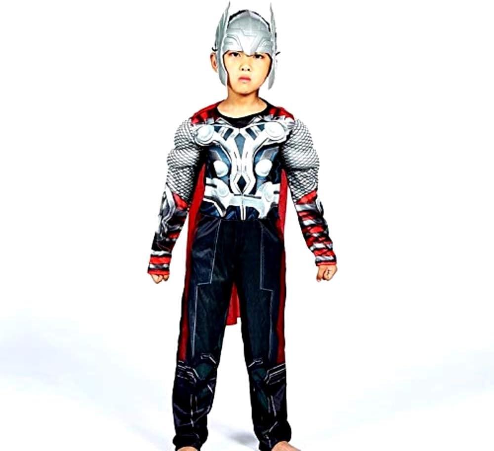 Disfraz Thor - Busto musculoso - Superhéroe y máscara - Niños ...