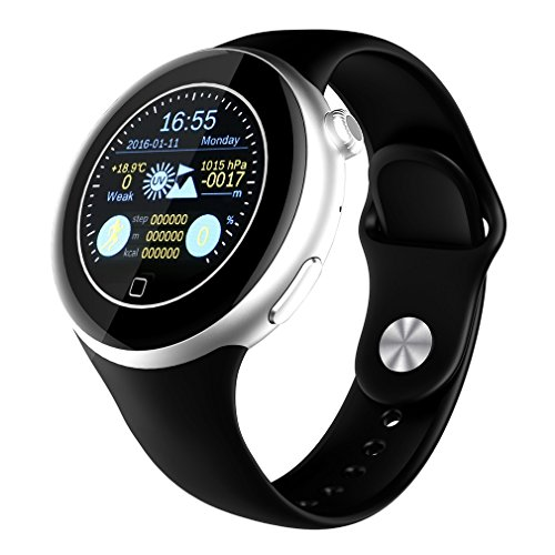 LESHP Bluetooth Smartphone Watch C5 Waterproof Bluetooth 4.0 with Temperature, Air Pressure, Altitude, Heart Rate, Sleep Monitoring, Remote Camera, UV Detection Anti-sweat by LESHP