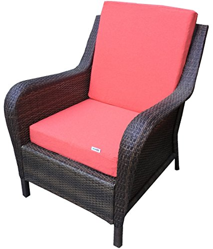 2 Pack Outdoor Patio Chair Deep Seat Washable Cushion Seat Pad 20