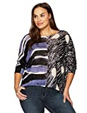NIC+ZOE Women's Plus Size Sierra Top, Multi, 2X