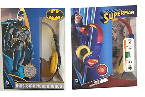 Kids ToddlersKid Safe Headphones Earphones Bundle Set Batman vs Superman