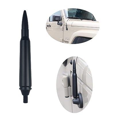 Jeep Bullet Antenna, bestaoo Aluminum Alloy Short Bullet Raido Antenna for Jeep Wrangler JK JL Sahara Rubicon Sport 2007-2020: Car Electronics