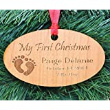 Babys First Christmas Ornament, Baby's First Christmas Ornament, First Christmas Ornament Baby, Personalized Ornaments - ORN20