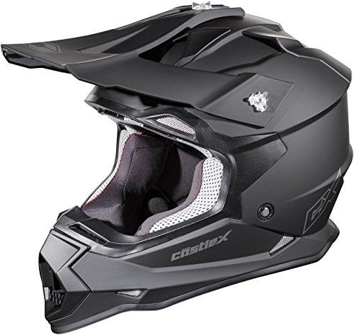 Castle Mode MX Youth - Motocross/Off-Road/ATV/UTV Helmet (MED, Matte Black)