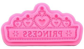 rosesummer 3d princesa corona patrones fomdant Cake Chocolate Candy silicona hacer moldes para horno: Amazon.es: Hogar