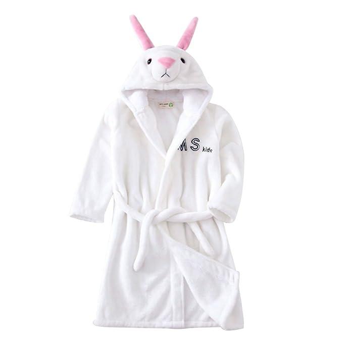 0dc811912 Amazon.com  Little Girl s Coral Fleece Bathrobe Unisex Kids Robe ...