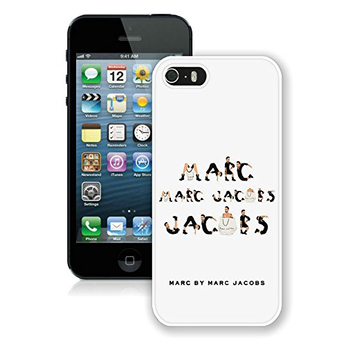 Iphone 5s Case Custom Design Marc by Marc Jacobs 11 Cell Phone Cover Case for Iphone 5s Generation White