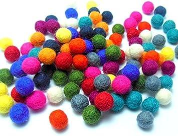 1cm Felt Balls ~ Red Color Felt Wool Balls ~ Handmade Pom Pom Woollen Beads