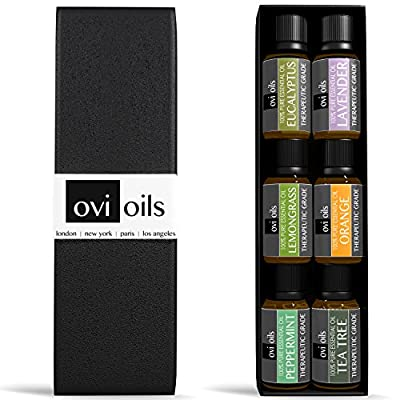 Essential Oils Aromatherapy Gift Set - 100% Pure Therapeutic Grade Guaranteed - Premium 6 (Peppermint, Lavender, Orange, Eucalyptus, Lemongrass, Tea Tree) - #1 Award-Winning Ultra Fine Quality