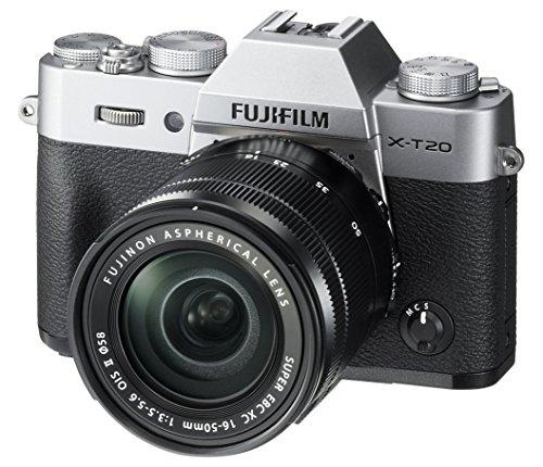Fujifilm X-T20 Mirrorless Digital Camera w/XC16-50mmF3.5-5.6 OISII Lens – Silver (Certified Refurbished)