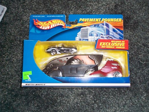 Pavement Pounder (Hot Wheels pavement pounders treasure hunt set 50's corvette car & transporter new)