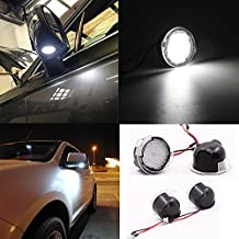 2pcs set High power white LED Under Side rear tow Mirror Puddle Lights for Ford Edge Explorer Mondeo Taurus F-150 FX4 SVT Raptor F-150 Heritage-LC07001