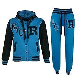 Kids Girls Boys Baseball Tracksuit NYC FOX Jacket Trouser Hoddie Bottom Joggers
