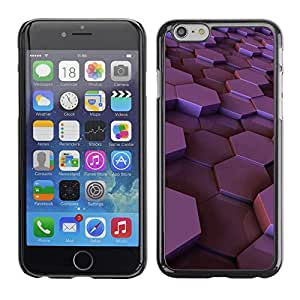 [Neutron-Star] Snap-on Series Teléfono Carcasa Funda Case Caso para Apple (4.7 inches!!!) iPhone 6 / 6S [Hexágono púrpura brillante ciruelo 3D dimensional]