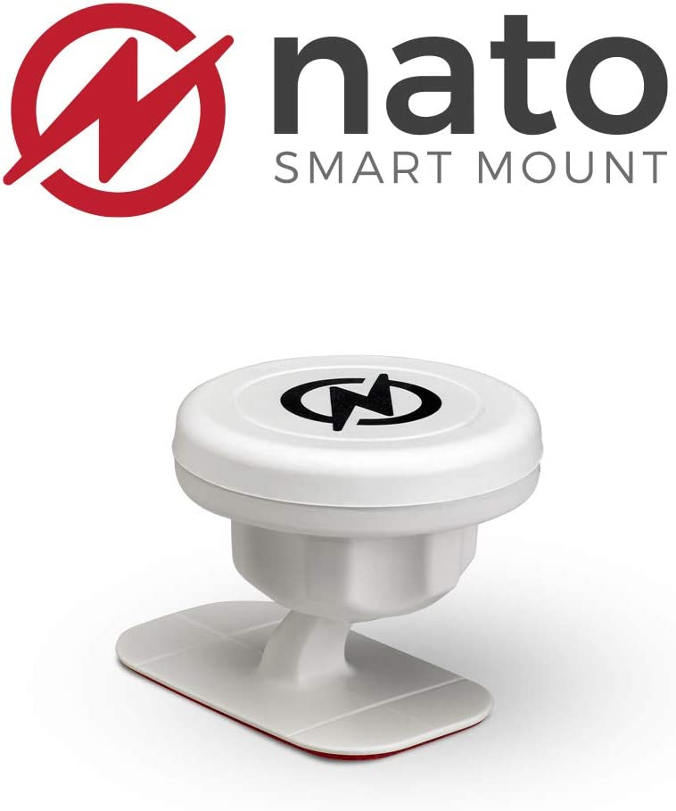 Nato Smart Mount (White) Magnetic Smart Device Holder Universal Adhesive