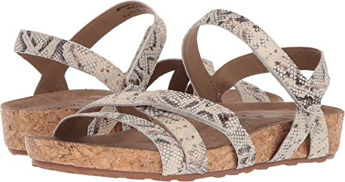 outlet original cheap sale choice Walking Cradles Women's Pool Flat Sandal Natural Buffed Snake Print Leather/Cork Wrap cheap sale pictures great deals cheap online HnlaoYh7B2