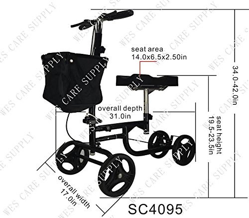 Lightweight Steerable Knee Walker by Wes Care Supply (Image #3)