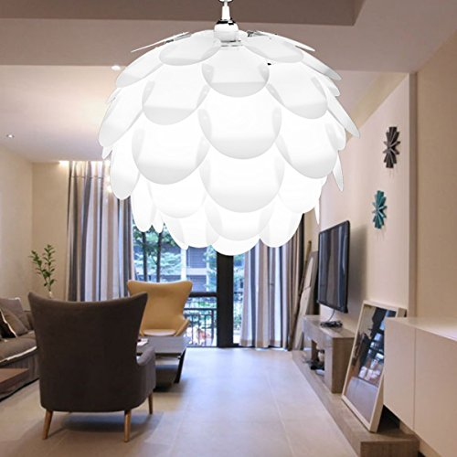 excelvan creative diy kit pinecone shape puzzle lampshade iq pp suspension ceiling pendant chandelier light shade lamp for christmas living room bedroom - Ceiling Lights For Bedroom