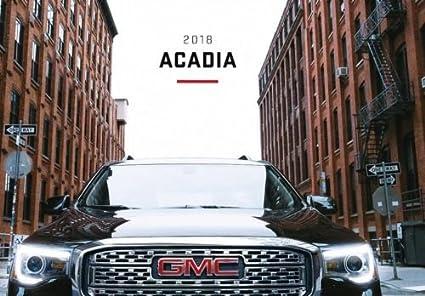 Amazon Com 2018 Gmc Acadia 48 Page Original Car Sales Brochure