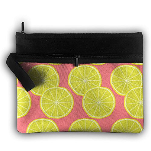Pink And Yellow Orange Waterproof Trip Toiletry Bag Travel Receive Bag Toiletry Jewelry Bag
