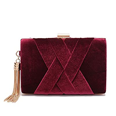 Women's Evening Clutch Bag Stain Fabric Bridal Purse For Wedding Prom Night Out Party