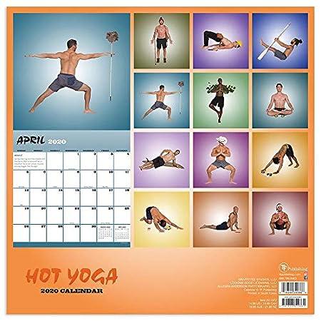 Amazon.com: Calendario de yoga para hombre caliente, juego ...