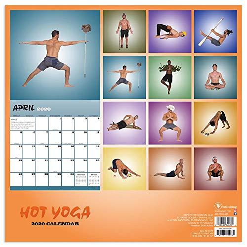 Hot Men - Calendario de yoga con calendario 2020, calendario ...
