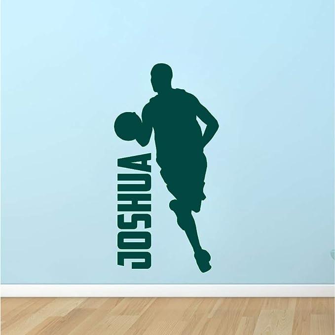 Niños Baloncesto Driblar Silueta Tatuajes de pared Dormitorio ...