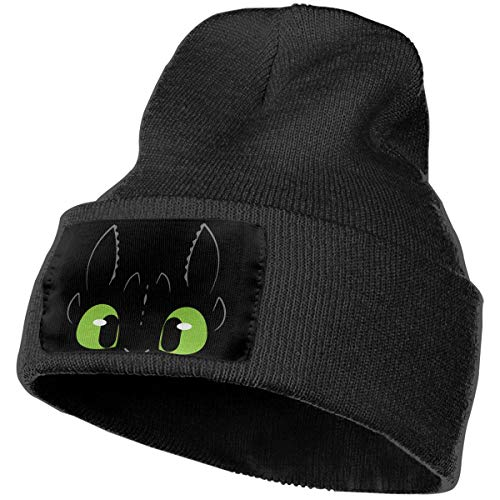 Unisex Winter Hats Toothless Dragon Skull Caps Knit Hat Cap Beanie Cap for Men/Womens]()
