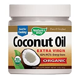 Nature\'s Way EfaGold Coconut Oil, Pure Extra Virgin 16 oz