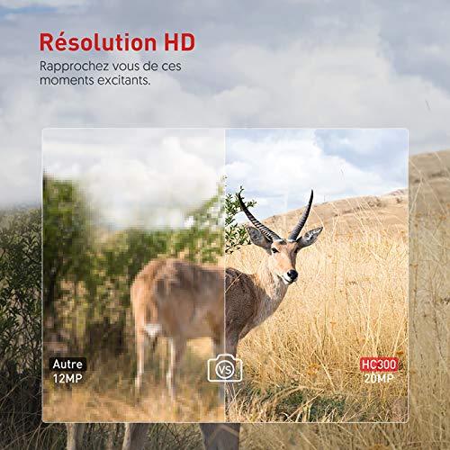 Victure Caméra de Chasse 20MP Surveillance 1080P HD Étanche IP66 Détection Thermique Vision Nocturne 38 LEDs Infrarouges… 2