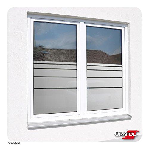 Sichtschutzfolie blickdicht Glasdekorfolie Fensterfolie Dynamische Streifen + kostenlose Maßanfertigung - siehe 2. Produktbild
