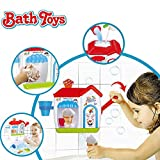 Ice Creams Bubble Bathtub Toy - Happytime Bathroom Foam Cone Factory Making Ice Creams Bubble Machine Bathtub Water Toys for Baby (No Batteries Required)