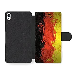 German Flag Germany Deutsch Flagge Faux Leather case for Sony Xperia Z3