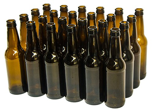 North Mountain Supply 12 Ounce Long-neck Amber Beer Bottles – Case of 24