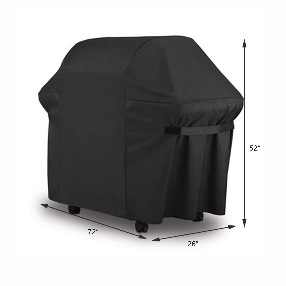 Protective Cover Dust Cover, Black Polyester Barbecue Cover, Patio/Garden,Black,58 * 24 * 48Inch RUANMU