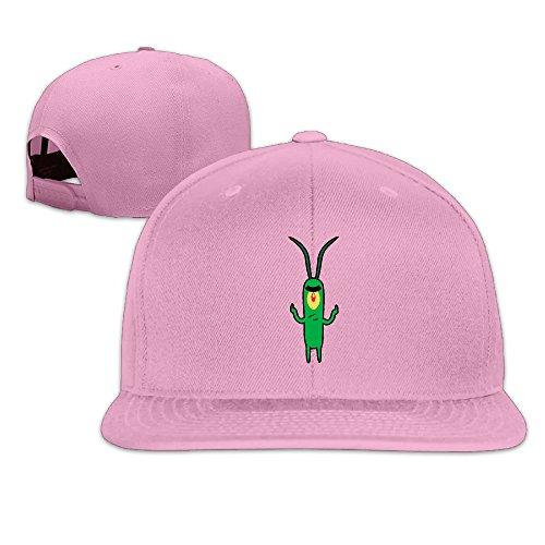 Sheldon Plankton SpongeBob Flat Snapback Hat Cap Men Women ( 8 Colors ) Pink