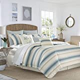 Tommy Bahama La Prisma Stripe Comforter Set, Queen, Blue