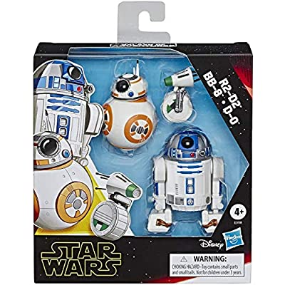 Star Wars Galaxy of Adventures R2-D2, BB-8, D-O Action Figure 3 Pack, 5