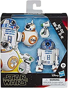 "Star Wars E3118 Galaxy of Adventures R2-D2, BB-8, D-O Action Figure 3 Pack, 5"" Scale Droid Toys with Fun Action Features, Kids Ages 4 & Up, Brown"