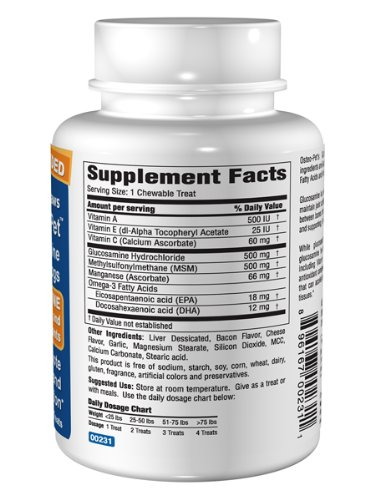 Picture of Osteo-Pet Glucosamine w EFA and MSM, 180 count