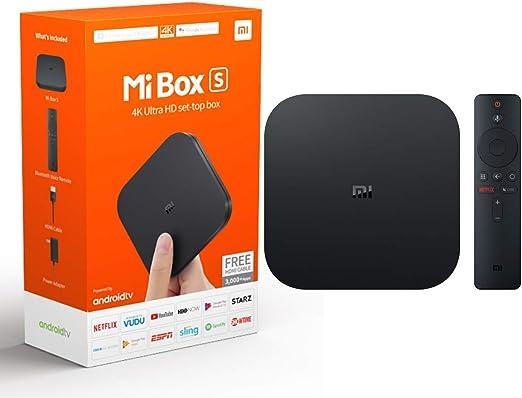 Xiaomi Mi Caja Original S - 4K Ultra HD TV con Google Android Asistente de Voz y Directa Netflix Remoto Streaming Media Player Enchufe de EE.UU.: Amazon.es: Electrónica