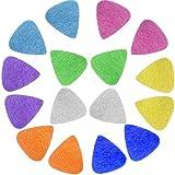 Foxany 16 Pack Ukulele Felt Picks, Comfortable for Ukulele, Guitar, Bass and Low Tension Music Instruments Felt Material Multi Color